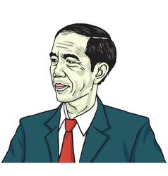 Jokowi joko widodo portrait drawing vector