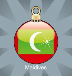 Maldives flag on bulb vector image vector image