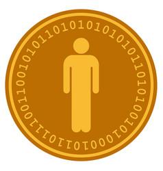 Man digital coin vector