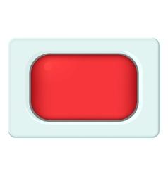 Rectangular button icon cartoon style vector