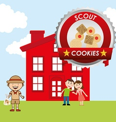 scout cookies vector image
