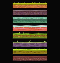 Seamless landscape elements set vector