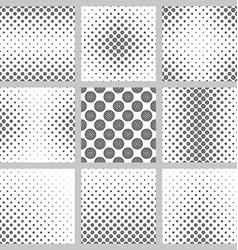 Seamless monochrome circle pattern design set vector image