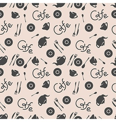 Seamless pattern Cafe stylish vector image