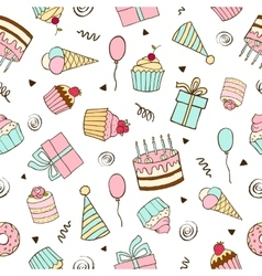 Seamless pattern for birthdays vector image vector image