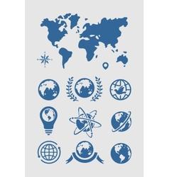 Set of Symbols Planet vector image vector image