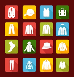 set with collection of men clothing vector image vector image