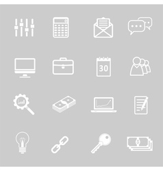 Simple Icons Set vector image