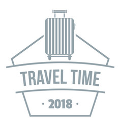 travel suitcase logo simple gray style vector image
