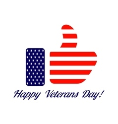 Veterans day flag design logo emblem vector