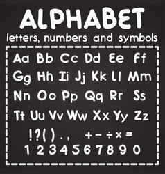 white latin alphabet isolated on black background vector image