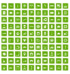 100 loader icons set grunge green vector