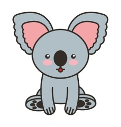 Cute koala animal tender isolated icon vector