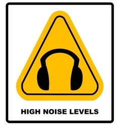 Wear earmuffs or ear plugs vector