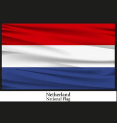 national flag of netherland vector image