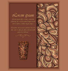 coffee background with floral vector image