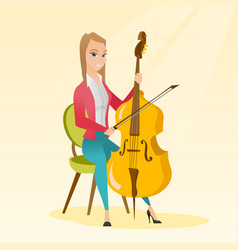 Woman playing the cello vector