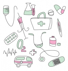 collection of medical signs vector image