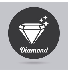 Diamond icon vector