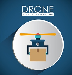Drone design over white background vector