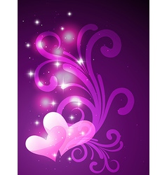 Beautiful heart background vector
