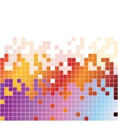 Abstract digital background with colorful pixels vector