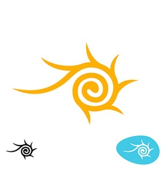 Sun tribal spiral logo vector