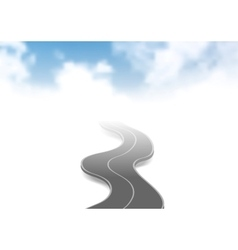 Road to sky abstract background vector