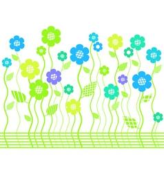 elegant bright flower border vector image