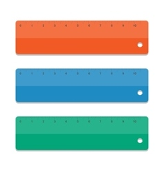 Set rulers vector image