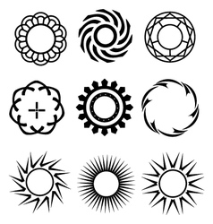 Black circle design elements 1 vector image