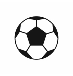 Soccer ball icon simple style vector