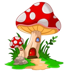 Mushroom house for you design vector
