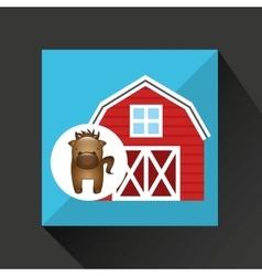 Farm countryside animal design vector