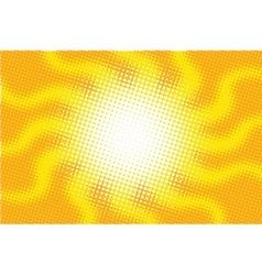 Retro sun with rays pop art vector