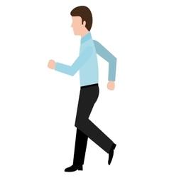 Avatar business man walking graphic vector