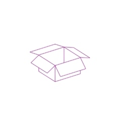box Flat design style vector image vector image