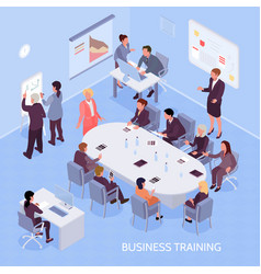 business training isometric vector image