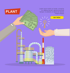 Buying plant online property selling web banner vector