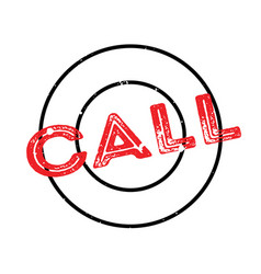 Call rubber stamp vector