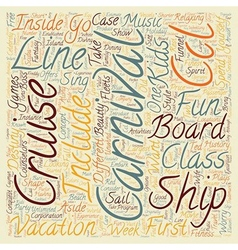 Carnival cruise line text background wordcloud vector