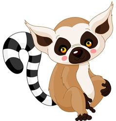 Cartoon lemur vector