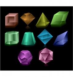 Glass figures vector