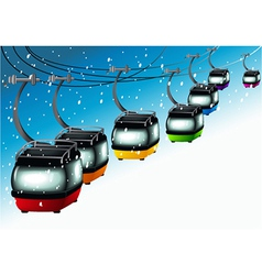 Gondolas on cableways vector image