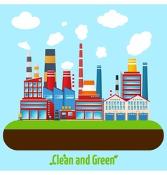 Green Industry Poster vector image vector image
