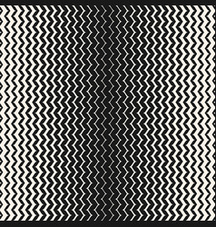 Halftone seamless pattern vertical zig zag lines vector