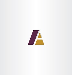 Logotype business logo letter a a sign vector