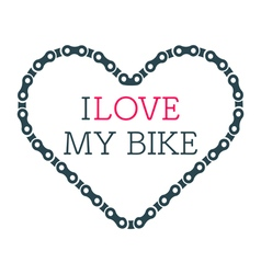 Love bike card vector
