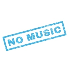 No music rubber stamp vector