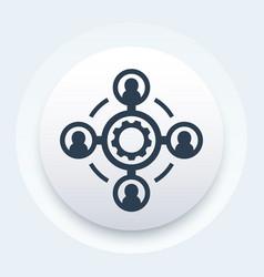 Outsource icon vector